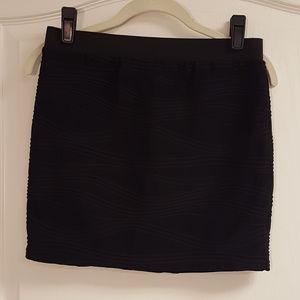 Candie's Black Spandex Mini Skirt